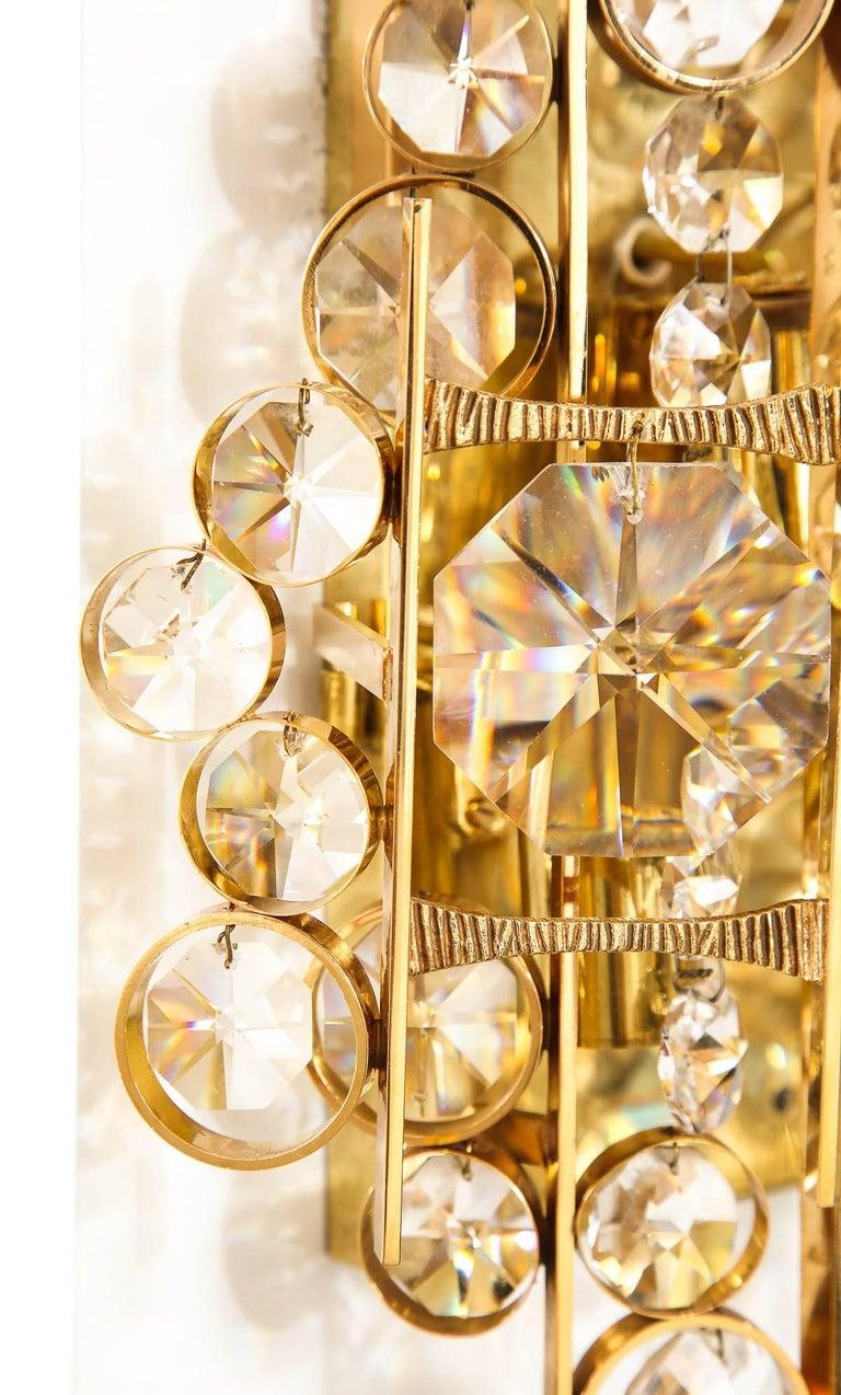 Hollywood Regency Palwa Austrian Crystal Sconces For Sale