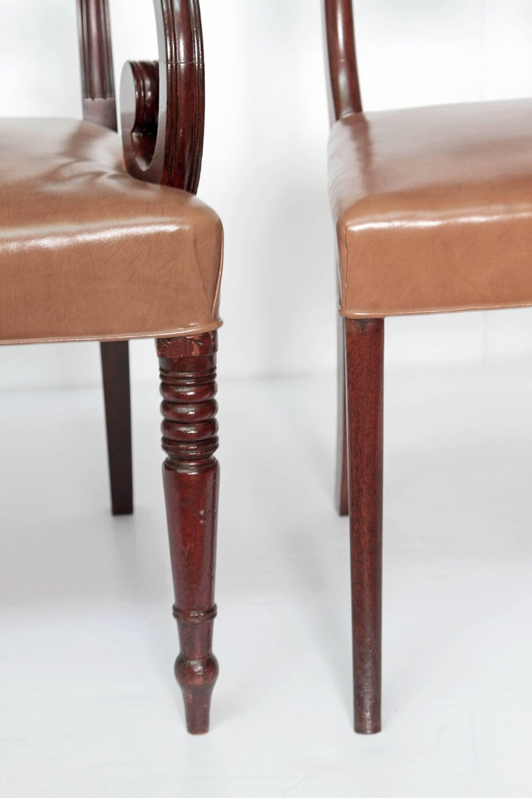Set of Eight English Regency Dining Chairs For Sale 4