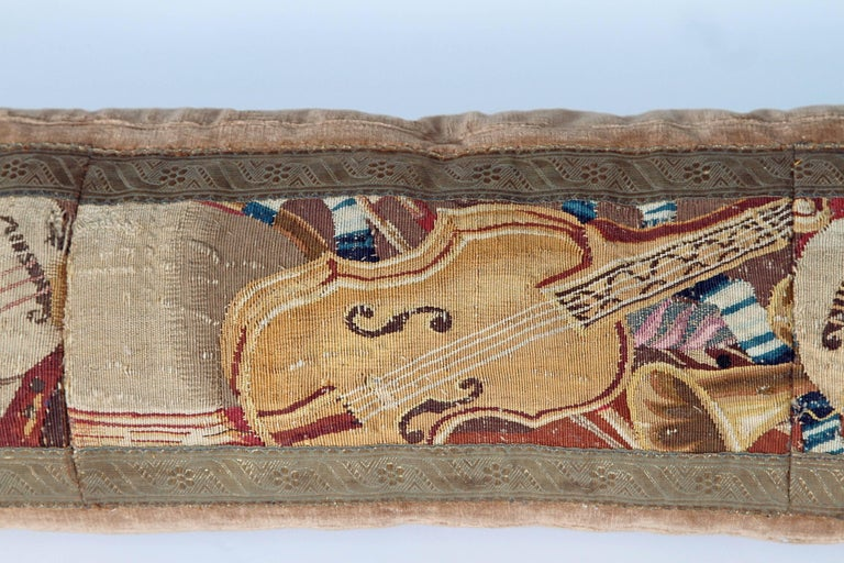 Long Tapestry Pillow with Musical Instruments 2