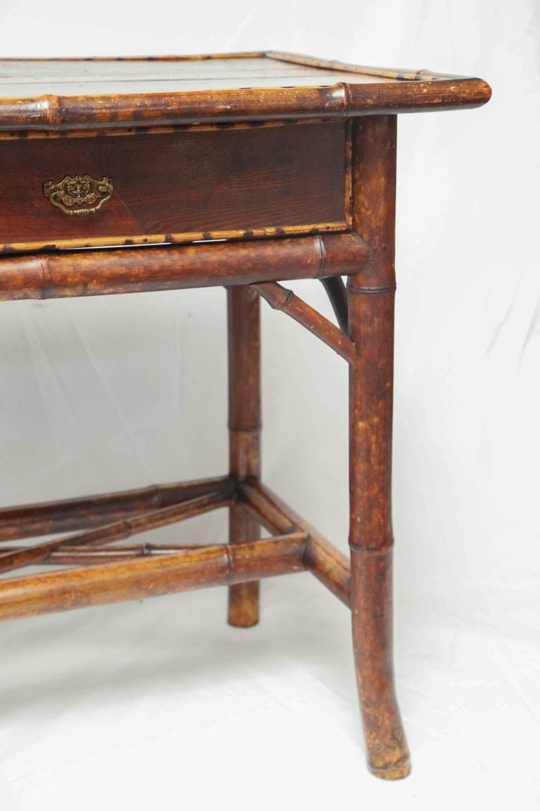 Fine 19th century english bamboo side table at 1stdibs for Bamboo side table