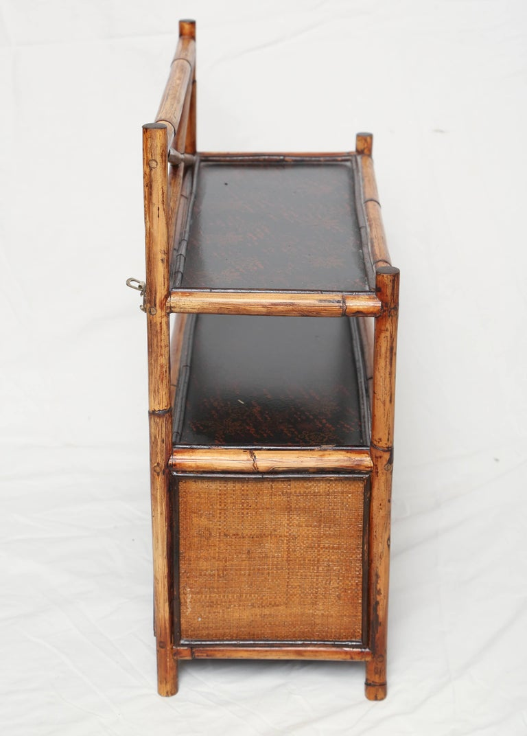 Very Sweet 19th Century English Bamboo Hanging Cabinet For Sale 2