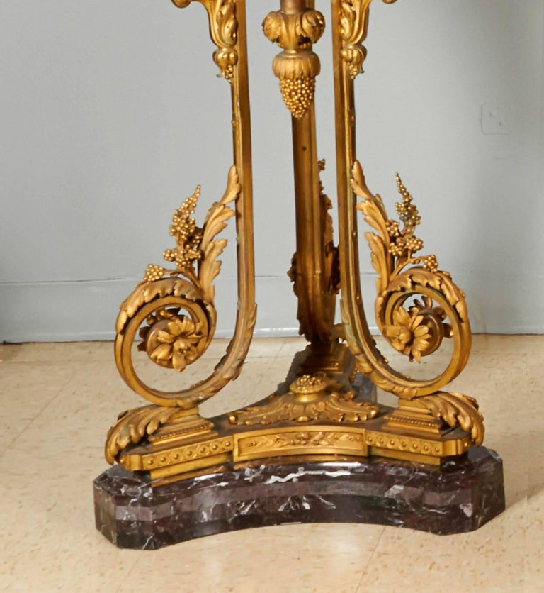 Important and Monumental Pair of Ormolu and Sèvres Style Porcelain Jardinieres 10