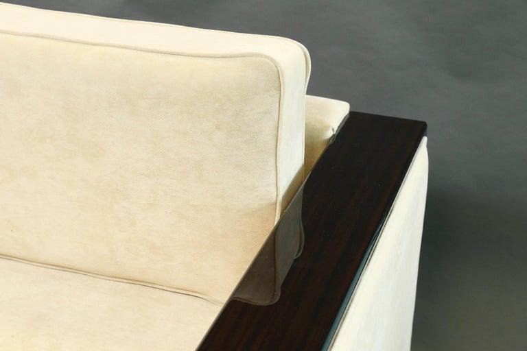 Mid-20th Century Italian Mid-Century Sofa in Walnut For Sale