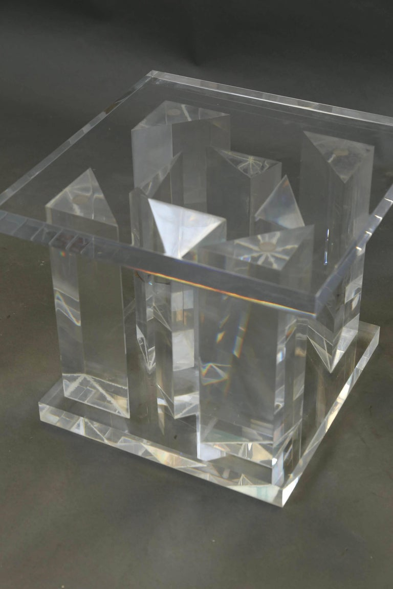 Mid Century Italian Glass Coffee Table For Sale At 1stdibs