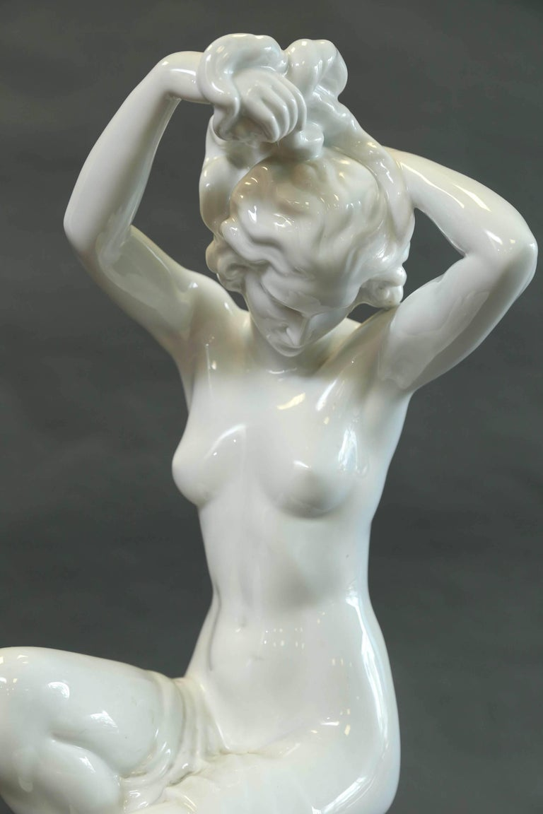 Herend Nude Sitting Female Figure 2