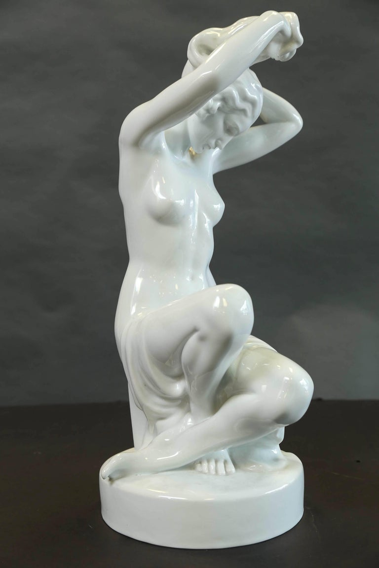 Herend Nude Sitting Female Figure 4