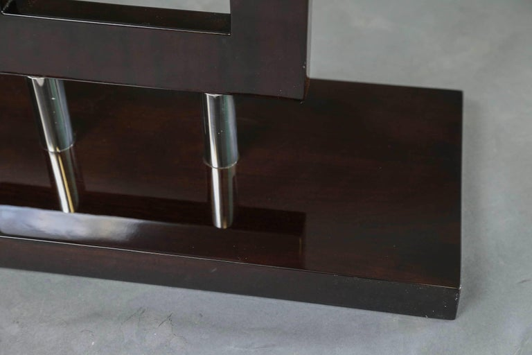 Mid-20th Century Italian Mid-Century Console in Palisander Wood with Chrome For Sale