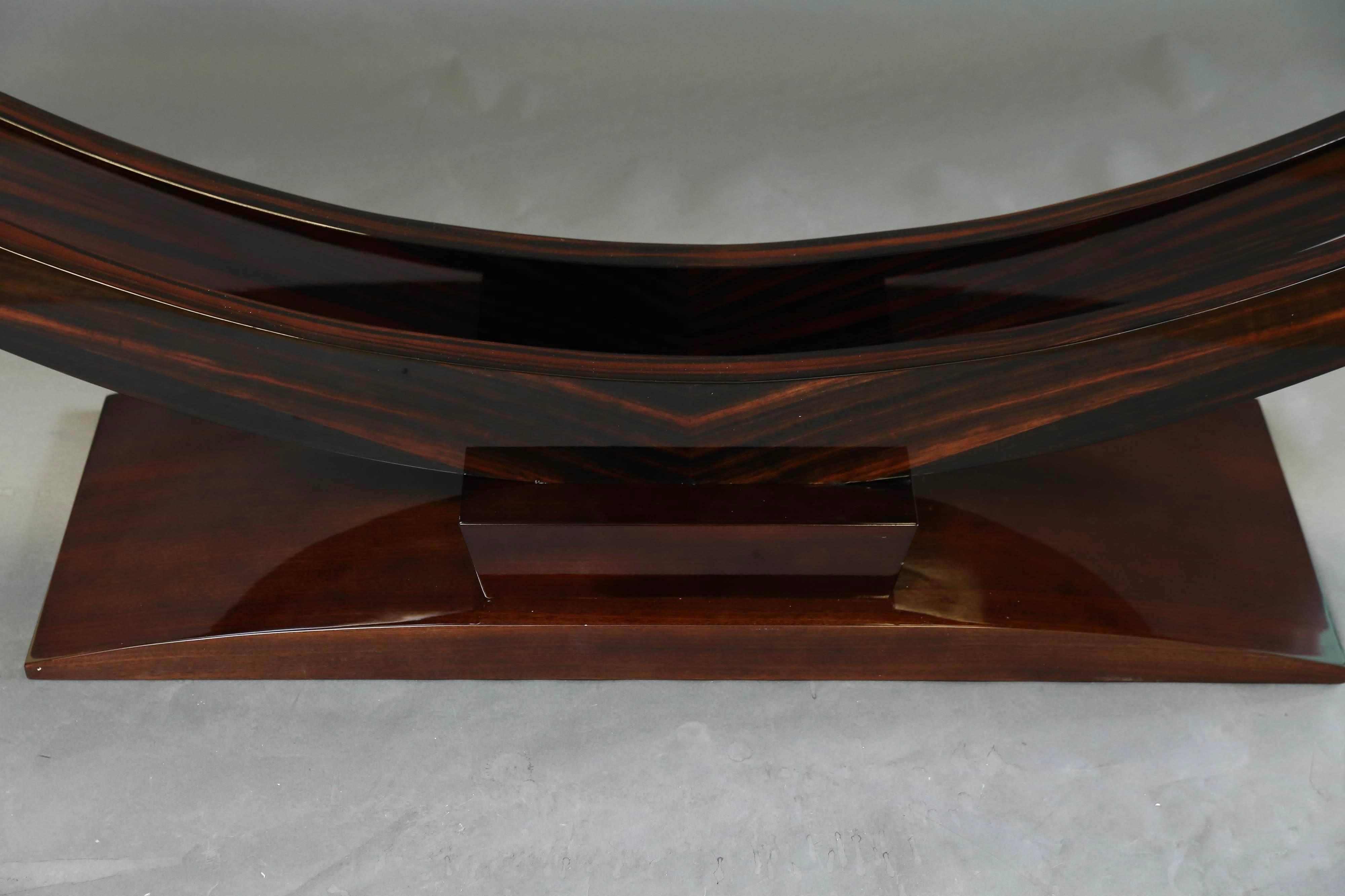 Macasser console table ebony finish console table macassar french art deco french console tables in macassar 3 geotapseo Image collections