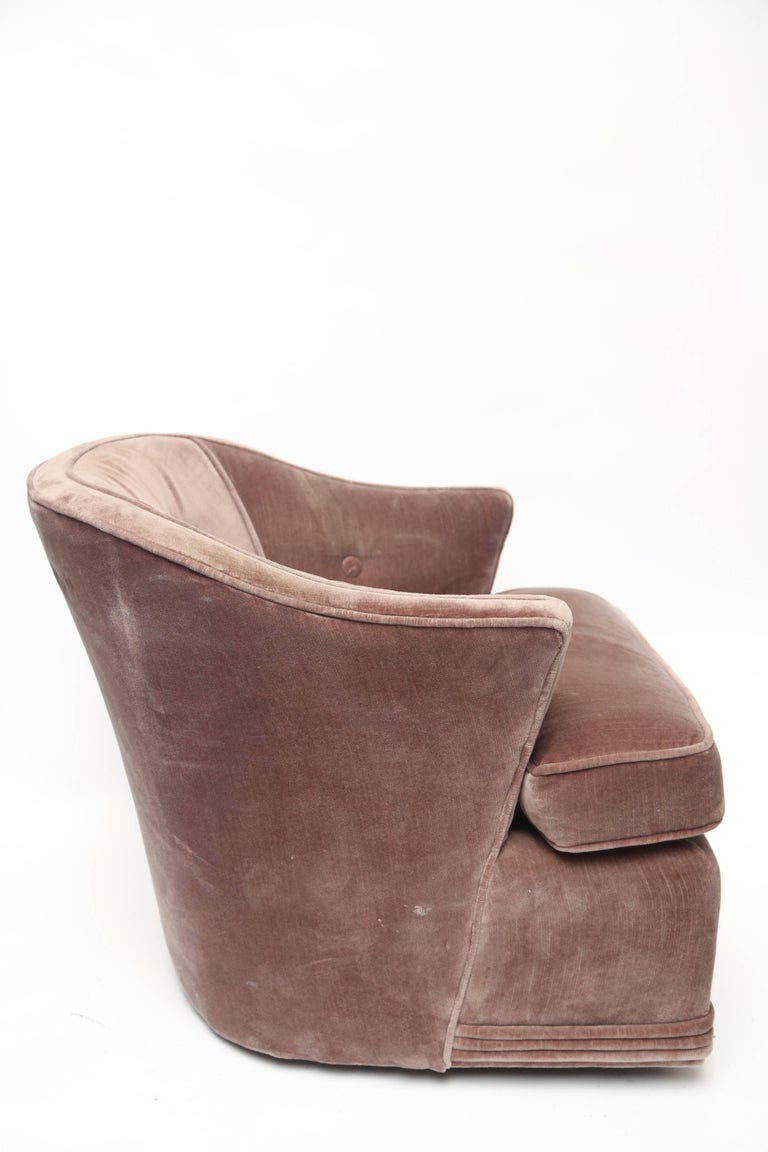 Custom Upholstered Lounge Chair, 1960s, USA In Good Condition For Sale In Miami, FL