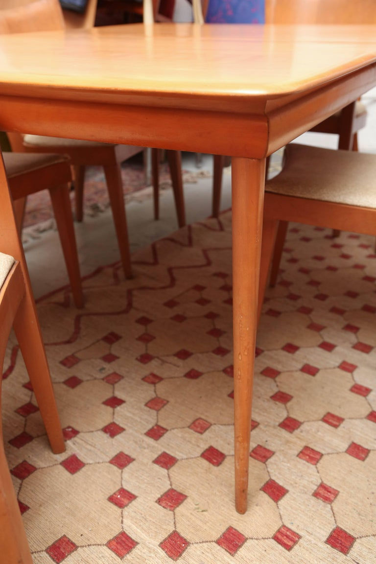 Heywood Wakefield Dining Room Set With Six Chairs 1960s