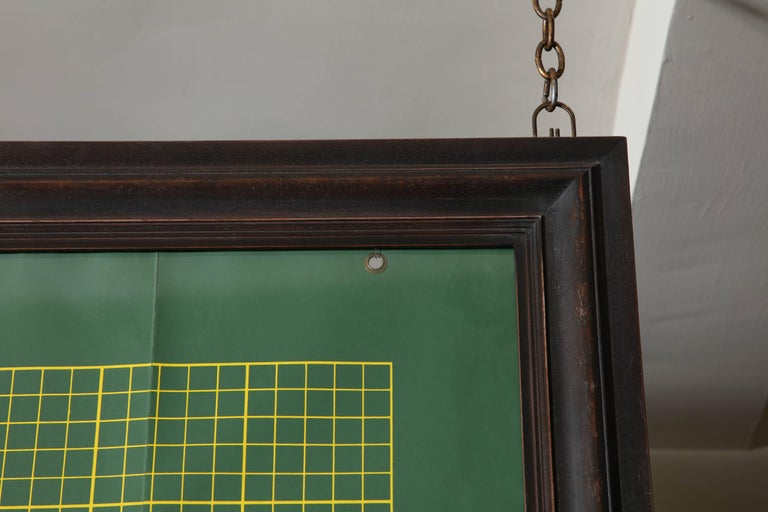 Mid-20th Century Framed Graph Chart For Sale