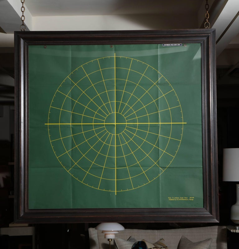 Framed Graph Chart For Sale 1