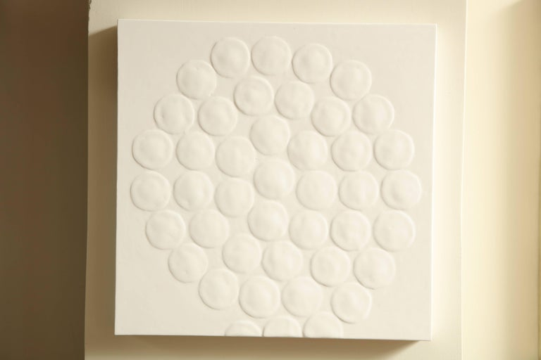 White Spiral Dot Motif Painting 2