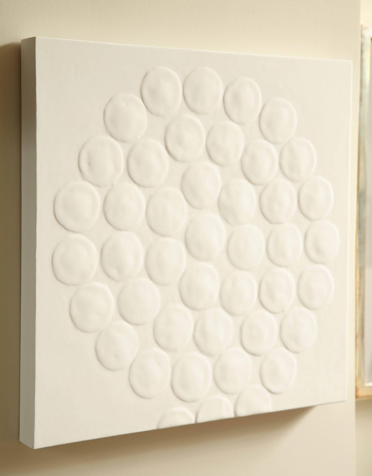 White Spiral Dot Motif Painting 5