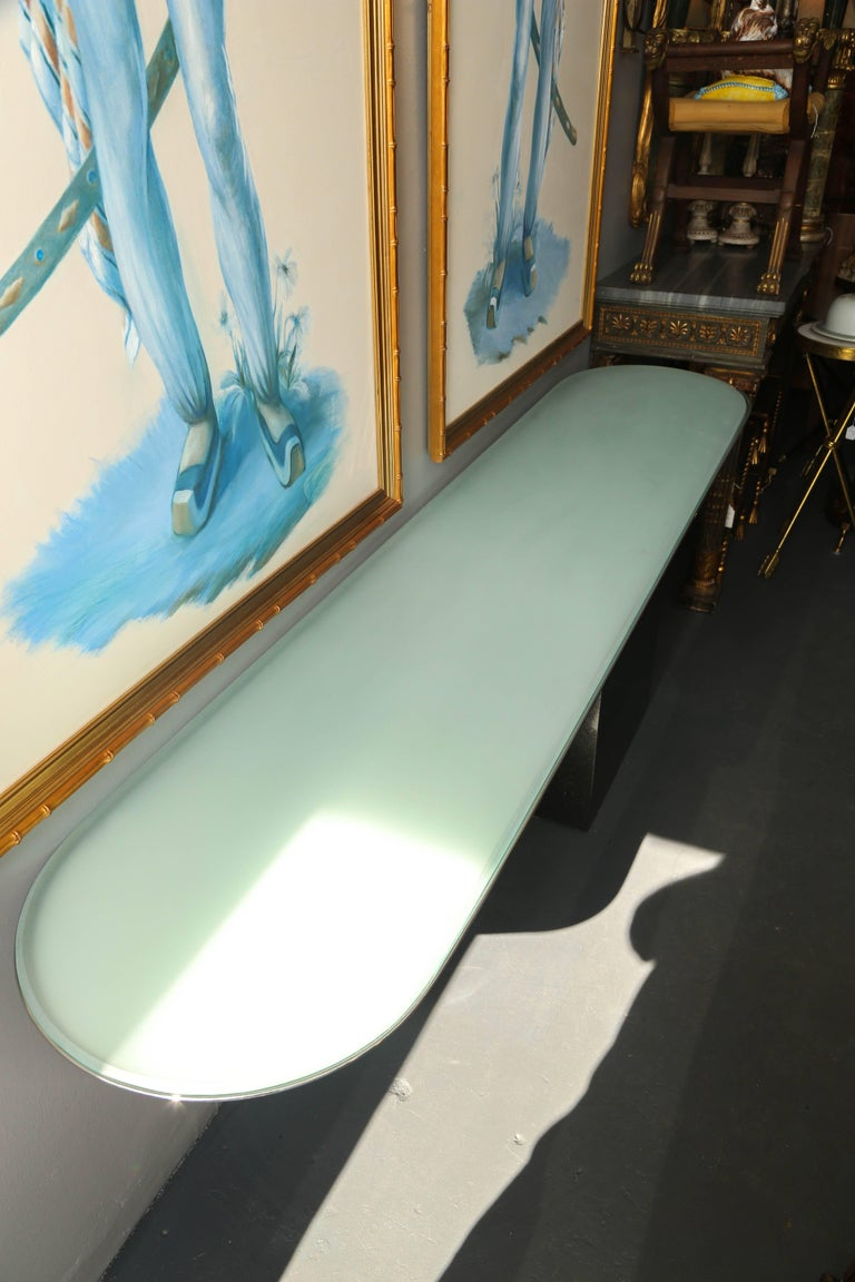 Rare Cantilever J. Wade Beam Console for Brueton In Good Condition For Sale In West Palm Beach, FL