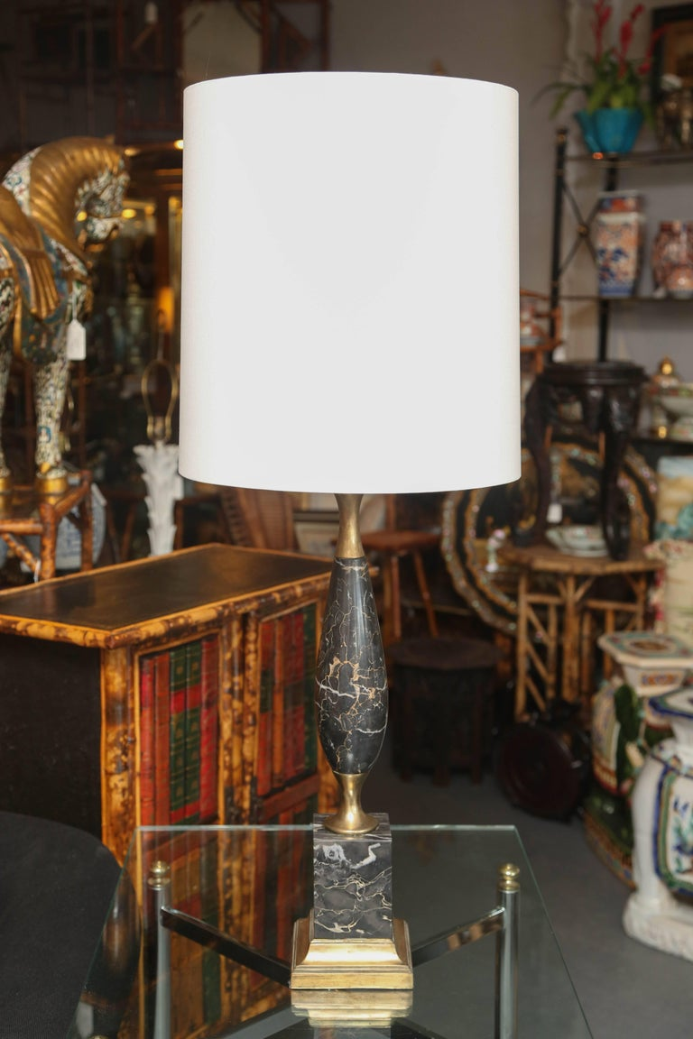Superb Pair of Mid-Century Italian Marble Lamps 2