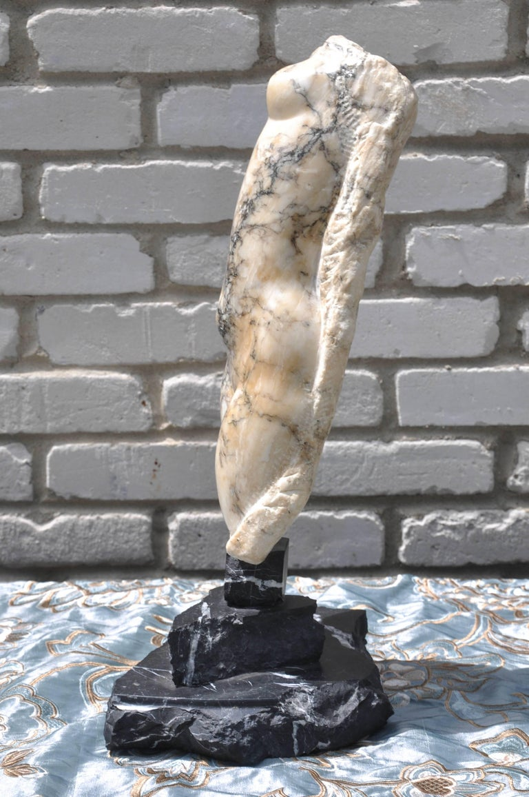 19th Century Italian Abstract Marble Torso Sculpture For Sale