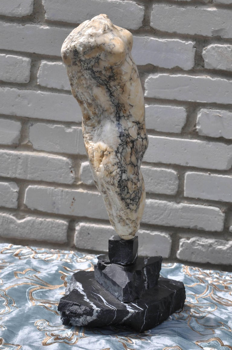 Italian Abstract Marble Torso Sculpture For Sale 1