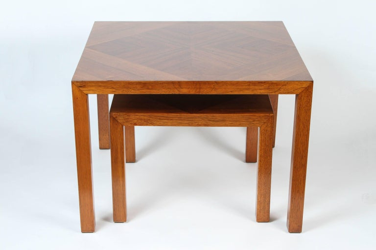 Mid-20th Century Mid-Century Walnut Nesting Tables from Lane For Sale