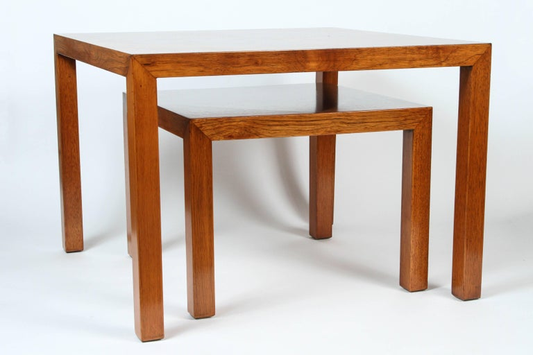Mid-Century Walnut Nesting Tables from Lane For Sale 1
