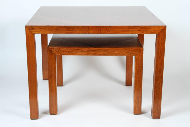 Mid-Century Walnut Nesting Tables from Lane For Sale 2