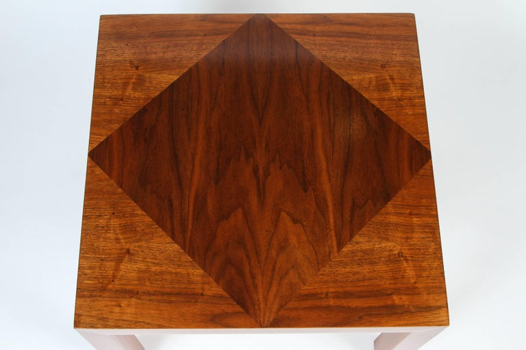 Mid-Century Walnut Nesting Tables from Lane For Sale 3