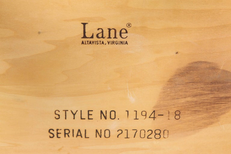 Mid-Century Walnut Nesting Tables from Lane For Sale 6