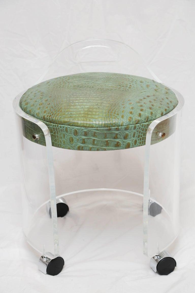 Charles Hollis Jones Lucite Vanity Chair For Sale At 1stdibs