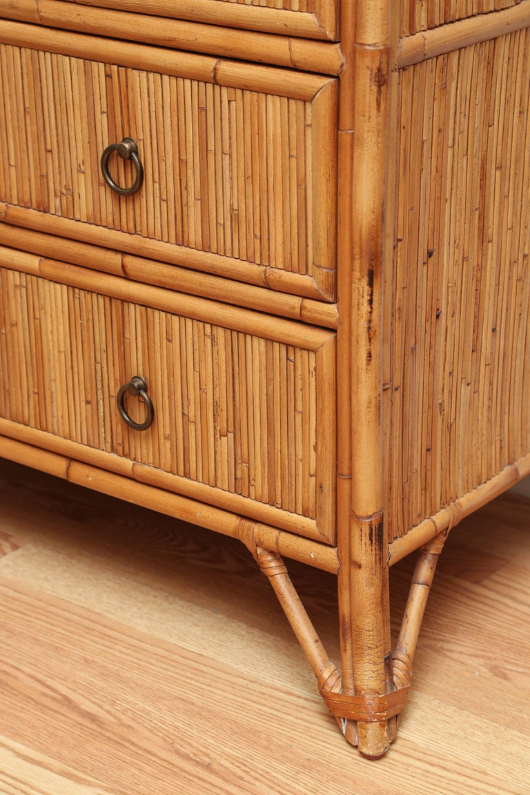 Pencil Bamboo Dresser By Baker At 1stdibs