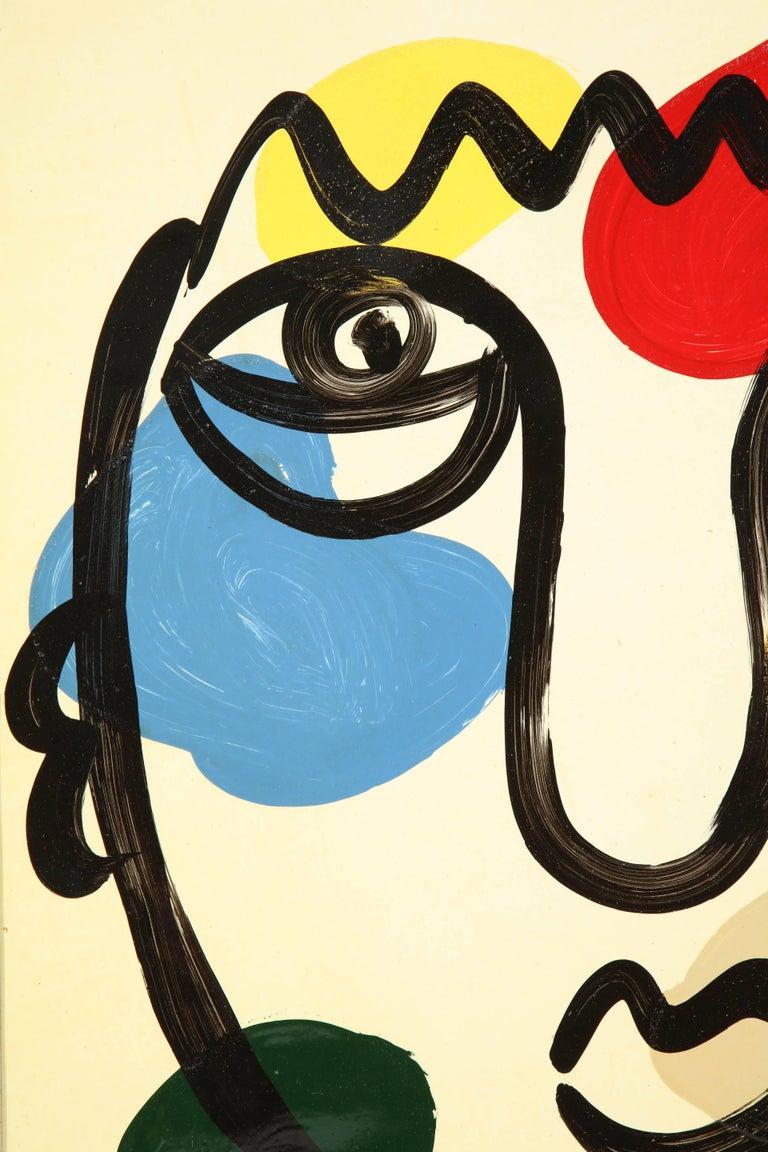 German Painting by Peter Keil, C 1975 For Sale