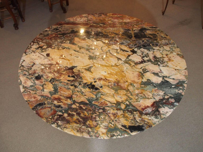Italian Empire Style Marble-Top Centre Table with Breche d'Alpes Marble 2