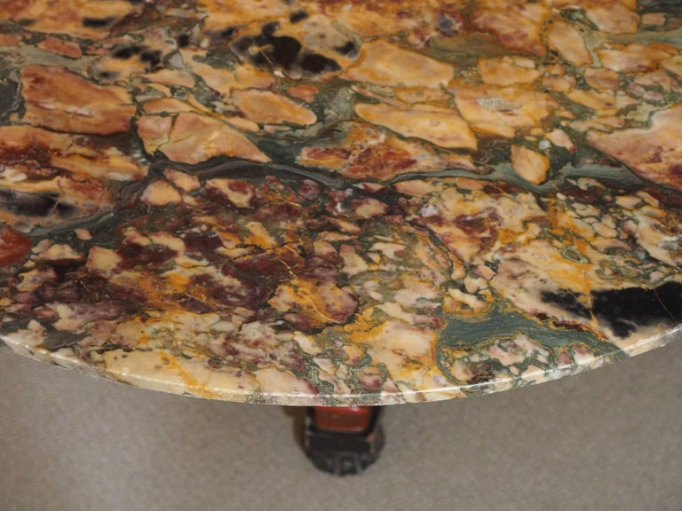 Italian Empire Style Marble-Top Centre Table with Breche d'Alpes Marble 3