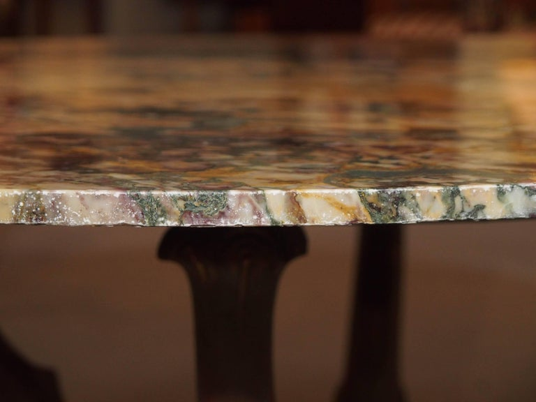 Italian Empire Style Marble-Top Centre Table with Breche d'Alpes Marble 4