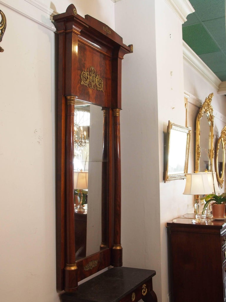 Antique French Empire Mahogany Pier Mirror For Sale At 1stdibs