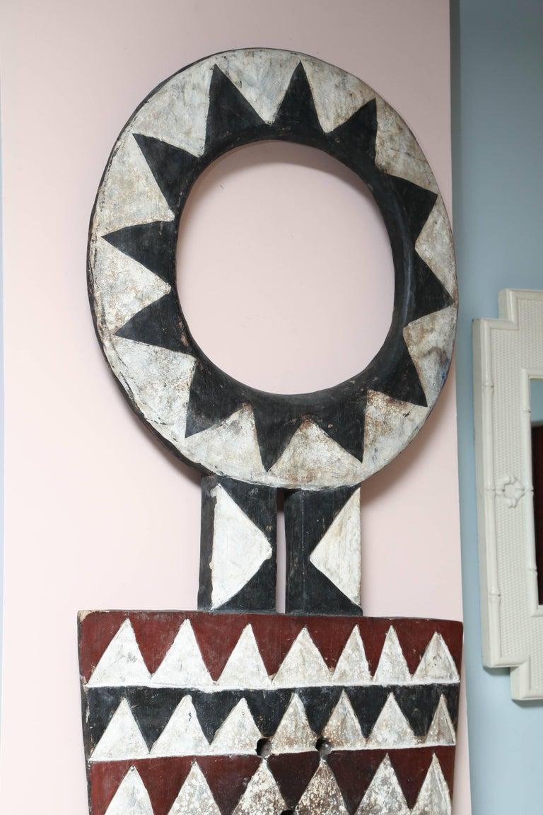 Primitive Huge and Elegant Decorative Ceremonial Harvest Mask, Cameroon, Africa For Sale