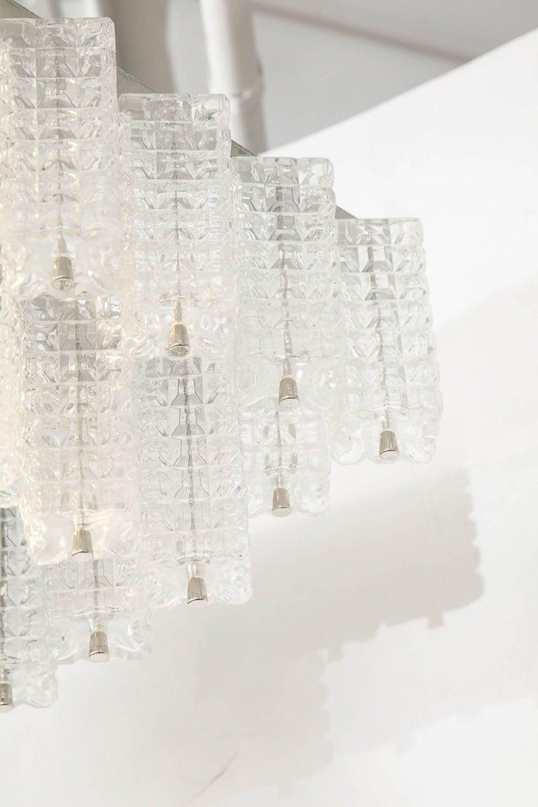 Austrian Austrolux Two-Tier Glass Chandelier For Sale