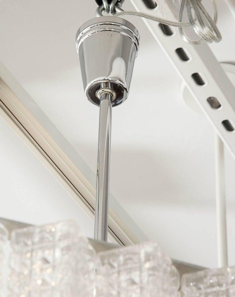 Nickel Austrolux Two-Tier Glass Chandelier For Sale