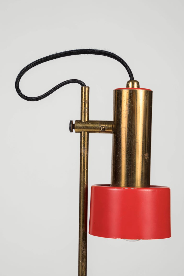 1960s Stilux Milano Adjustable Brass Table Lamp For Sale 2