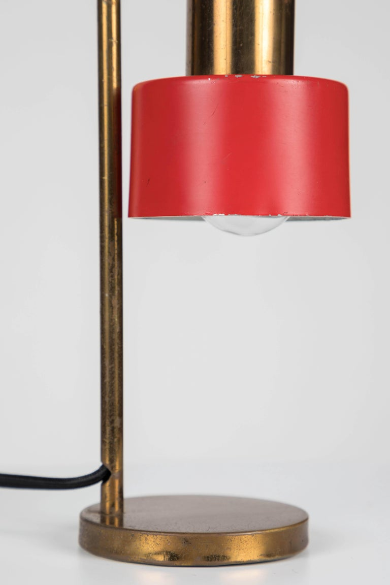 1960s Stilux Milano Adjustable Brass Table Lamp For Sale 3