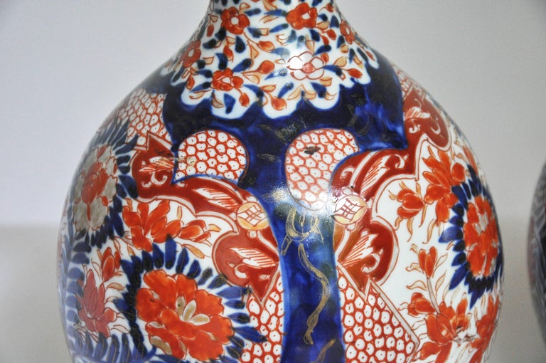 Japanese Pair of Arita Double Gourd Vases For Sale