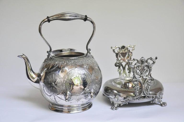 Silver Plate English Tilting Tea Pot For Sale
