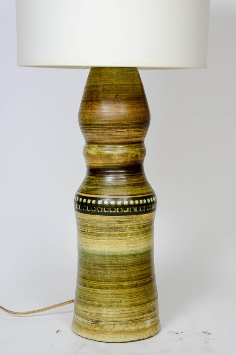 Mid-Century Modern Tall Vallauris Ceramic Table Lamp For Sale