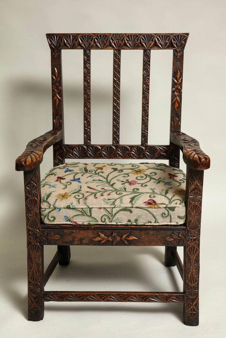 18th Century English Folk Art Chair 2