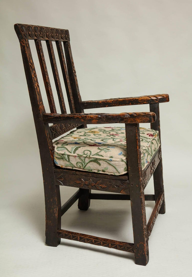 18th Century English Folk Art Chair 7