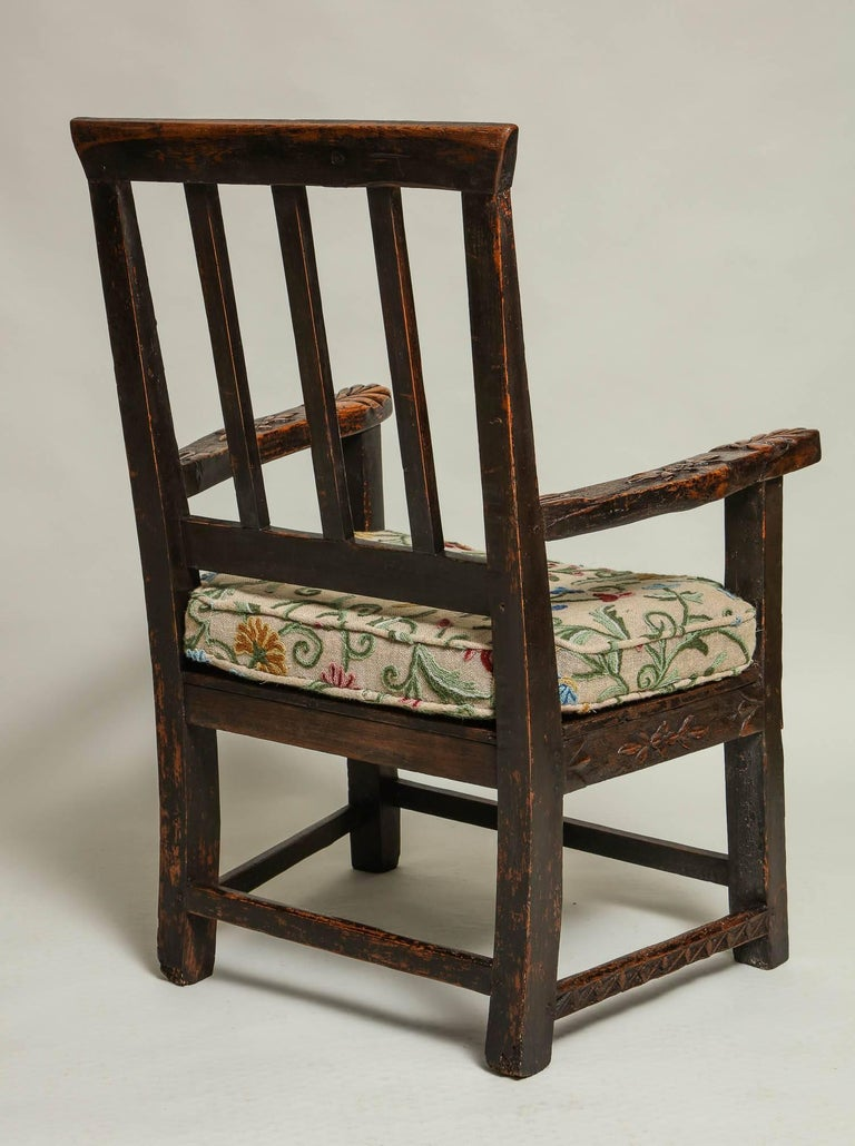 18th Century English Folk Art Chair 8