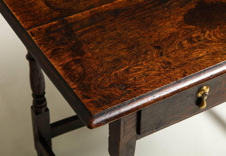 Early 18th Century English Oak Side Table 8
