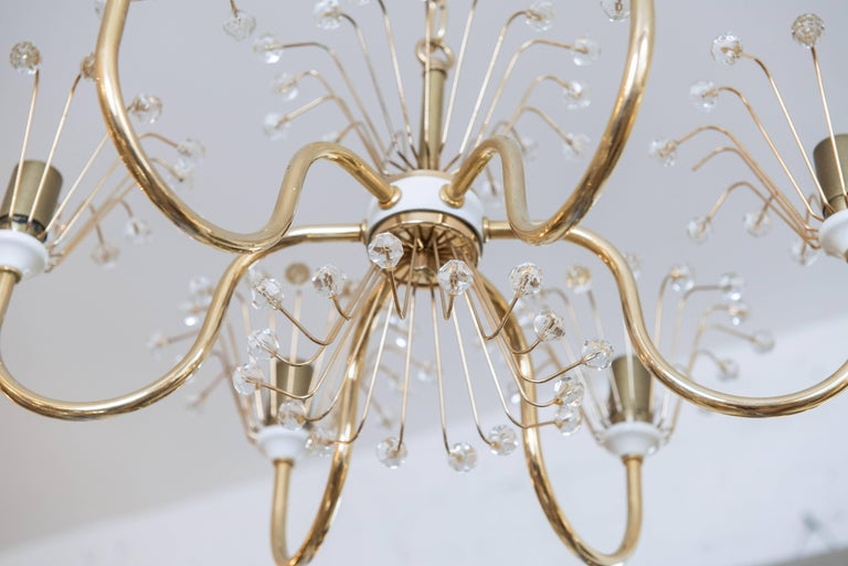 Plated Emil Stejnar Chandelier For Sale