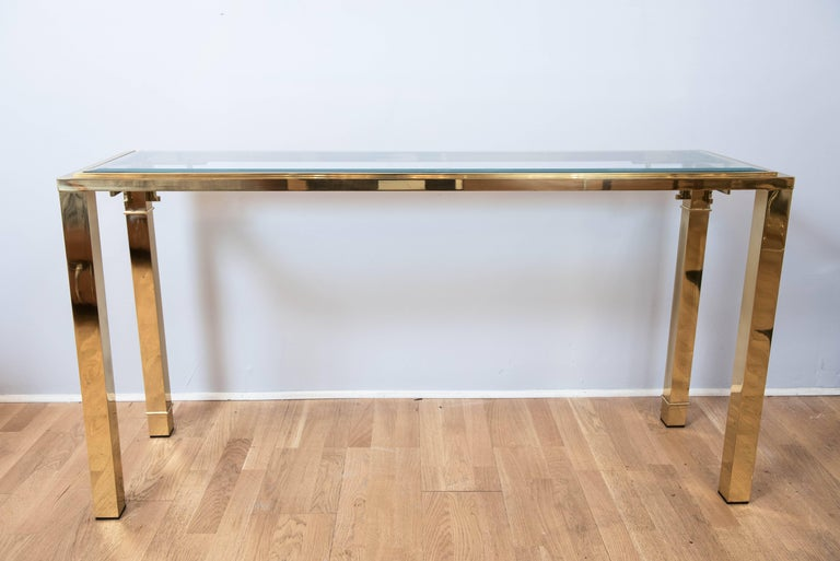 Mastercraft Brass Console For Sale 2