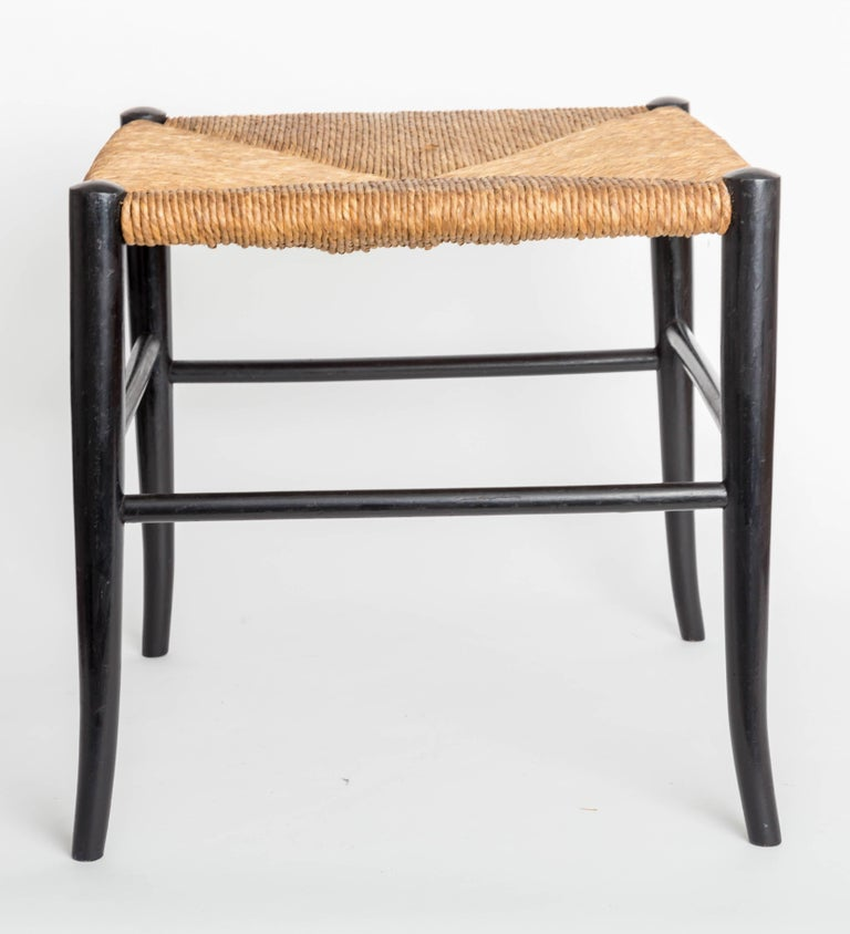 Wood Benches With Woven Rush Seats For Sale At 1stdibs