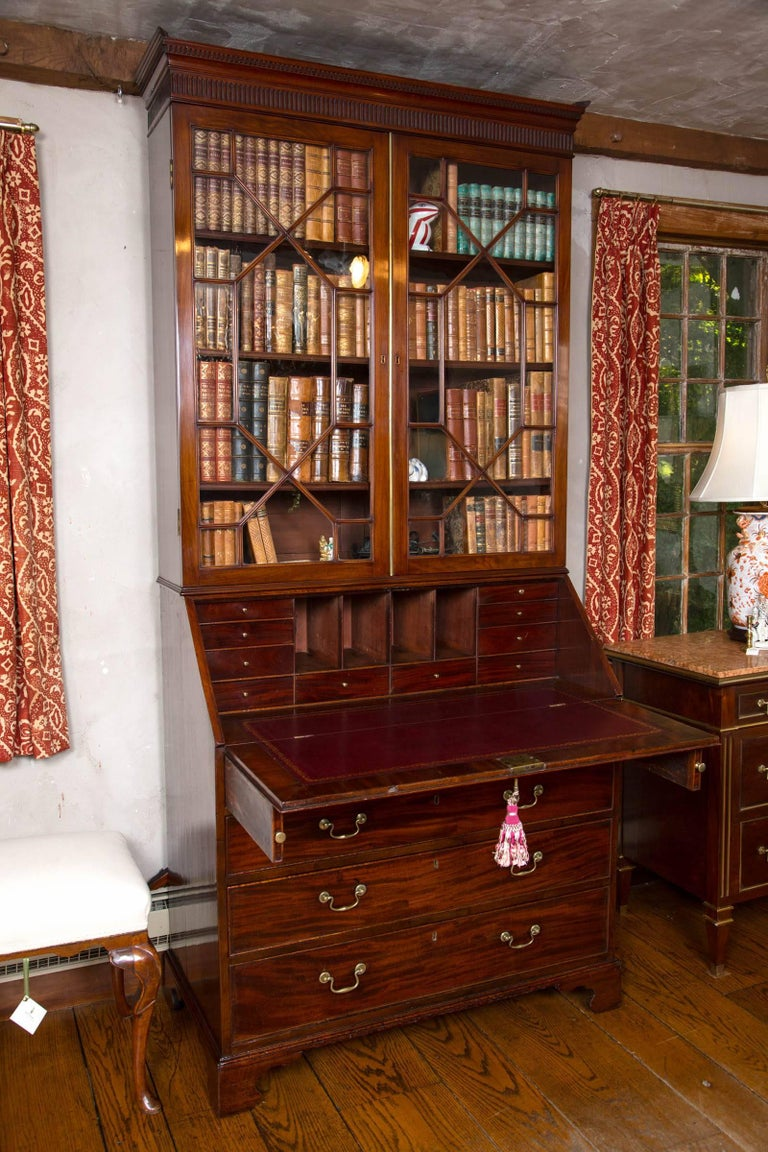 British George III Slant Front Bookcase or Secretary For Sale